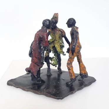 Sculpture bronze Petit conciliabule