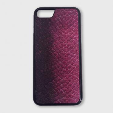 Iphone XR case in fish leather