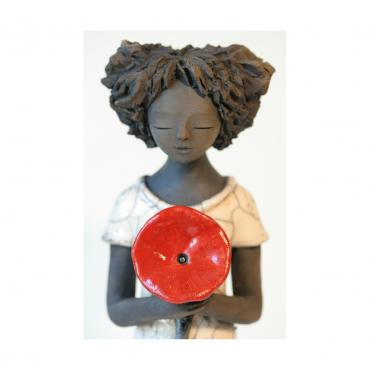 Sculpture Mademoiselle Coquelicot