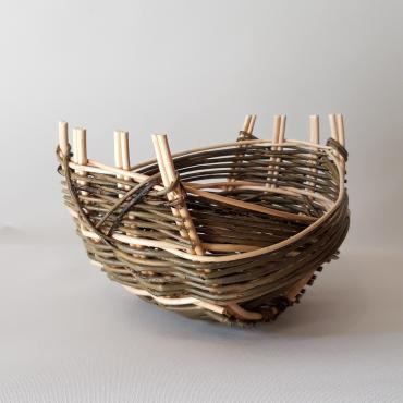 Small basket zarzo in wicker