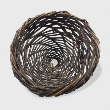 Small basket in raw wicker