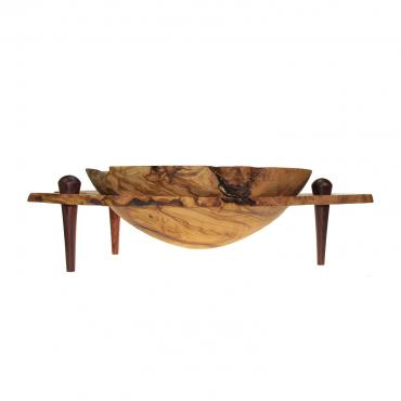 Decorative bowl in olivewood