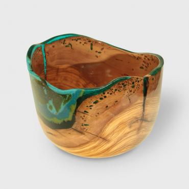Small salad bowl in olive wood  2