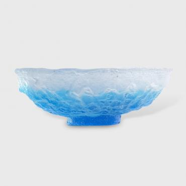 Blue and translucent bowl