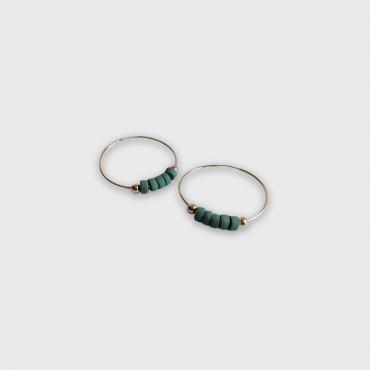 Large hoop earrings blue