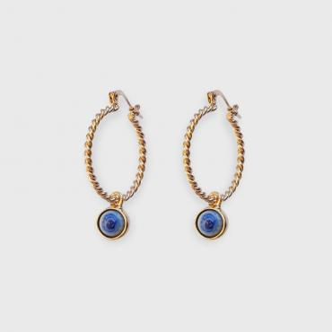 Hoop earrings Diane blue