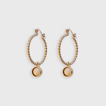 Hoop earrings Diane ivory