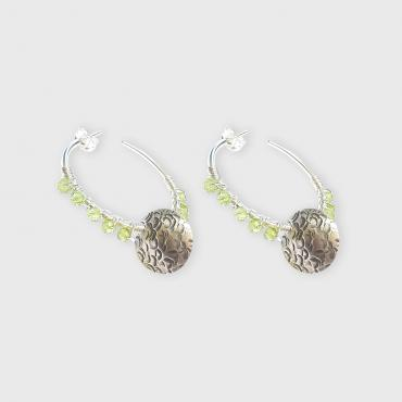 Hoop earrings Peridot