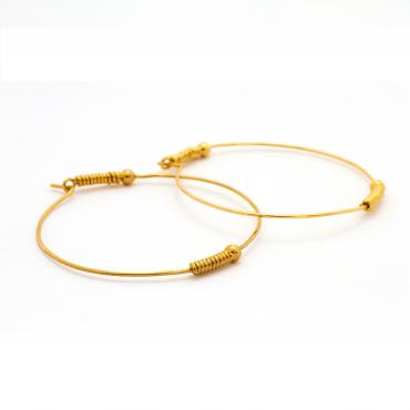 Large hoop earrings Okaïdo