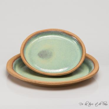 Plate Sarlat turquoise