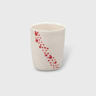 Coffee cup bubbles red