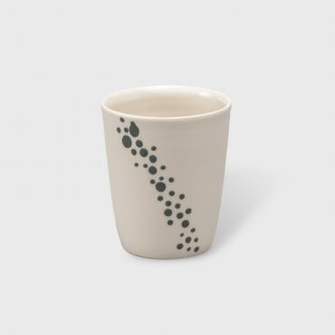 Coffee cup bubbles grey