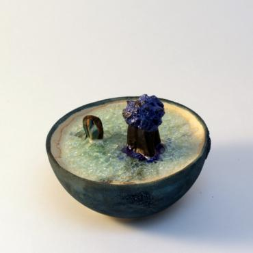 Sculpture ceramic and glass Dessine moi la mer