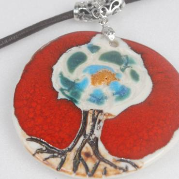 Pendentif porcelaine collection arbre