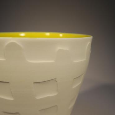 Teacup Yellow Checkered