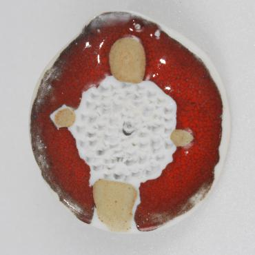 Broche porcelaine collection rouge