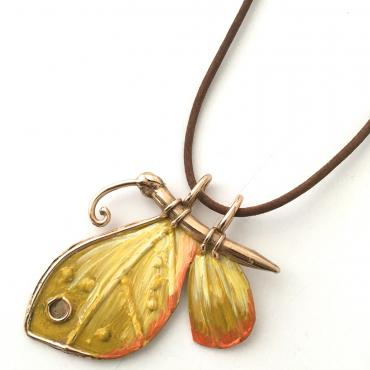Collier Papillon citron