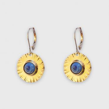 Earrings Sequana blue