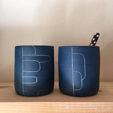 Set of 2 cups Empiècement