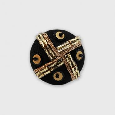 Magnetic brooch Tissage Or