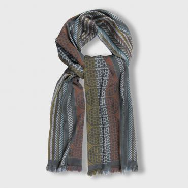 Scarf in silk and wool - POP CIRCUIT - durites & pneumatiques