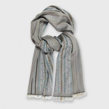 Lined scarf in silk and wool - POP CIRCUIT - grille & écrous