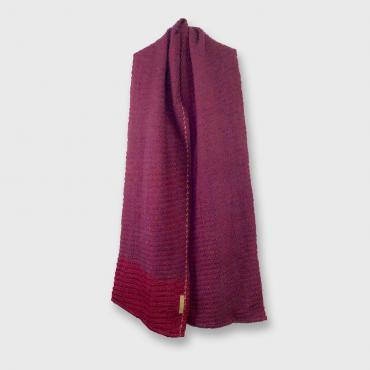 Wool scarf  prune