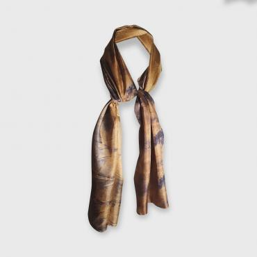 Scarf in silk Bambou