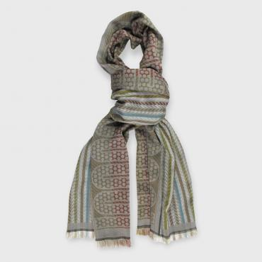 Lined scarf in silk and wool - POP CIRCUIT - durites & pneumatiques