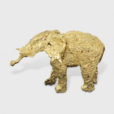 Sculpture Elephant Gold