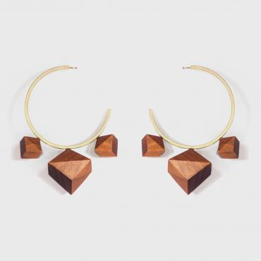 Boucles d'oreilles Elnazi orange