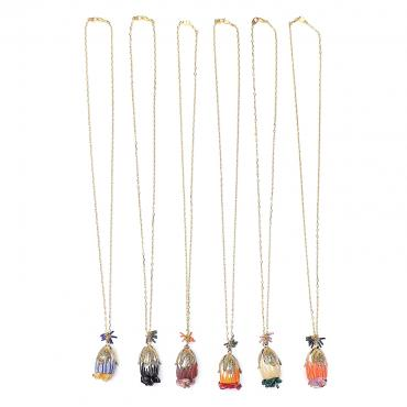 Collier Cocoon chocolat  w