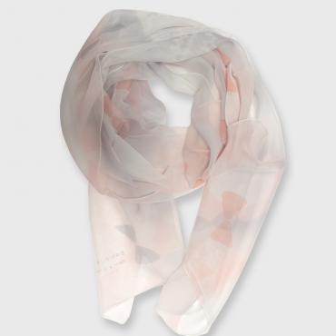 Silk scarf hand-painted Dentelles
