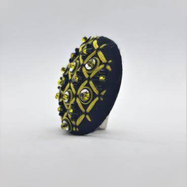 Magnetic brooch Grille Jaune