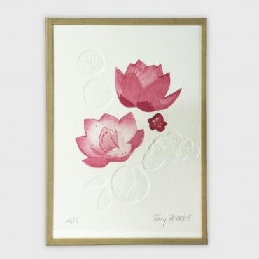 Engraving Water lilies