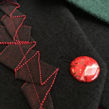 Collar scarf - button