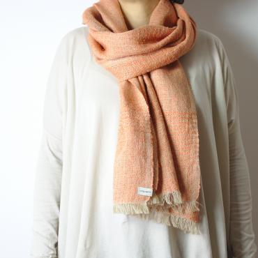 Foulard soie et lin orange