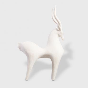 Sculpture Gazelle blanche