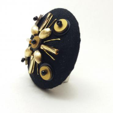 Magnetic Brooch Grain de Riz Or
