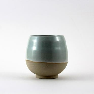 Cup medium celadon and raw clay