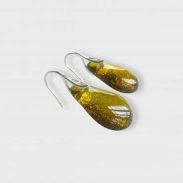 Earrings Gouttes Chartreuse