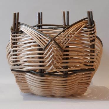 Two-colored tall basket Zarzo