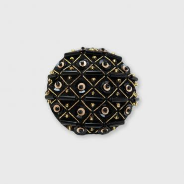 Magnetic brooch Grille Or