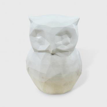Owl in white concrete