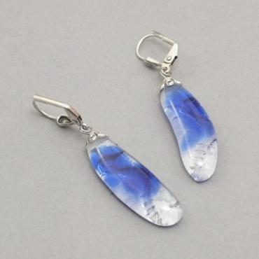 Earrings motif hippocampe bleu