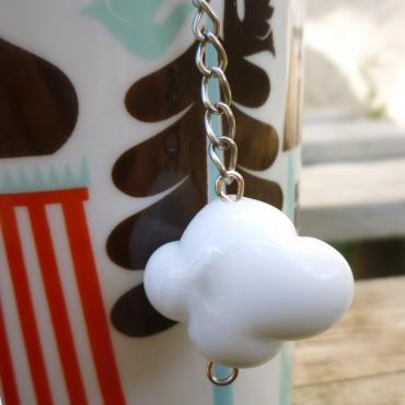 Tea ball nuage en verre blanc