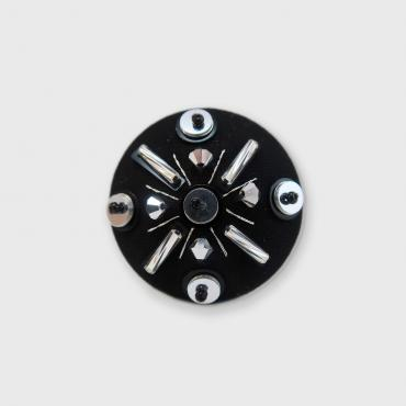 Magnetic brooch Toupie Argent