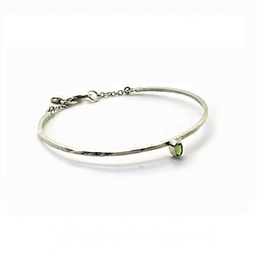Bangle bracelet green Tourmaline