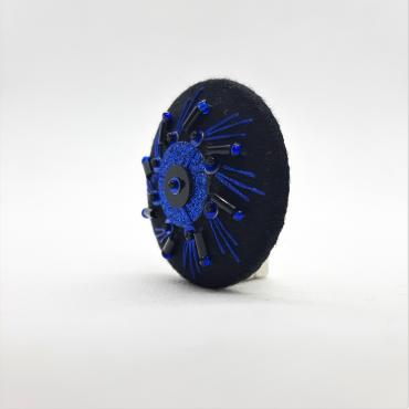Magnetic brooch Herbe Folle Bleue