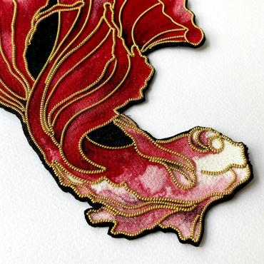 Kingyo Rouge - Brooch Or Géante